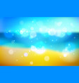 blurred sea shore nature background defocused vector image