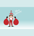 boy kid and rat dressed like santa claus carrying vector image vector image