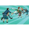 Business battle gender inequality vector image vector image