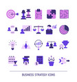 business strategy icons business strategy icons vector image