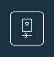 camera rear icon line symbol premium quality vector image vector image