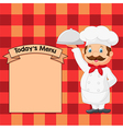 Cartoon chef holding a silver platter vector image vector image
