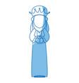 cartoon man king of orient manger nativity vector image vector image