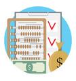 checklist and money vector image vector image
