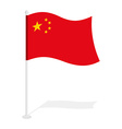 China flag Official national symbol of Republic of vector image vector image