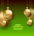 Christmas card with balls background vector image