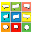 collection comic speech bubbles in flat design vector image