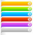 colorful buttonbanner templates horizontal bars vector image