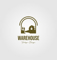 creek and barn logo design vintage warehouse logo vector image vector image