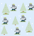 cute and funny animals background pattern vector image vector image