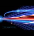 fantasy light speed background vector image vector image