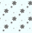 festive christmas background of snowflakes for vector image vector image