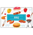 flat bbq party colorful template vector image vector image