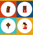 flat icon cacao set of wrapper chocolate vector image vector image