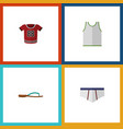 flat icon garment set of beach sandal t-shirt vector image vector image