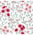 floral summer pattern leaves and flowers nature vector image vector image
