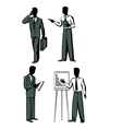 four businessmen vector image vector image