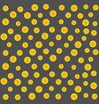 gold coins pattern on a gray vector image vector image