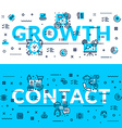 Growth and Contact heading title web banner vector image vector image
