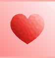 heart in lowpoly style on bright background vector image vector image