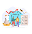 human resources agency global work searching vector image vector image