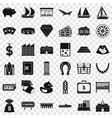 investment icons set simple style vector image vector image