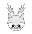 kawaii animal style with Christmas theme isolated vector image vector image