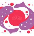 koi carp pattern asian art card original design vector image