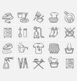 laundry hand drawn sketch icon set vector image vector image