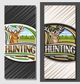 layouts for hunting vector image