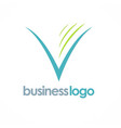 letter v company logo vector image vector image