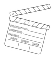 movie clapper vector image vector image