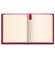 open blank book with red ribbon bookmark vector image vector image