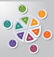 pie chart or area chart diagram infographics six vector image vector image