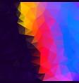 polygonal square background dark neon rainbow vector image vector image
