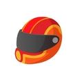 Racing helmet cartoon icon vector image vector image
