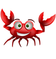 red crab cartoon smiling vector image vector image