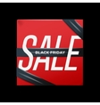 Sale red poster with ribbon on the box vector image