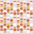 seamless geometric pattern circle and semicircle vector image