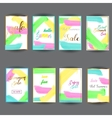 set of abstract bright Summer Sale Party vector image