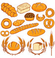 set of bread fresh bakery design vector image