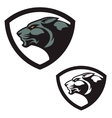 shield emblem template with puma head design vector image vector image