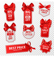 shopping labels red price tags special offer vector image
