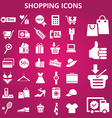 Shoppingicons vector image vector image
