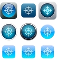 Sight blue app icons vector image vector image