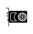 sound card - video card icon vector image vector image