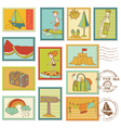 Summer and Sea elements vector image vector image