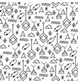 symbolic linear pattern vector image