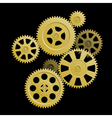 system of gears vector image