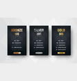 template premium price tables with a black vector image vector image